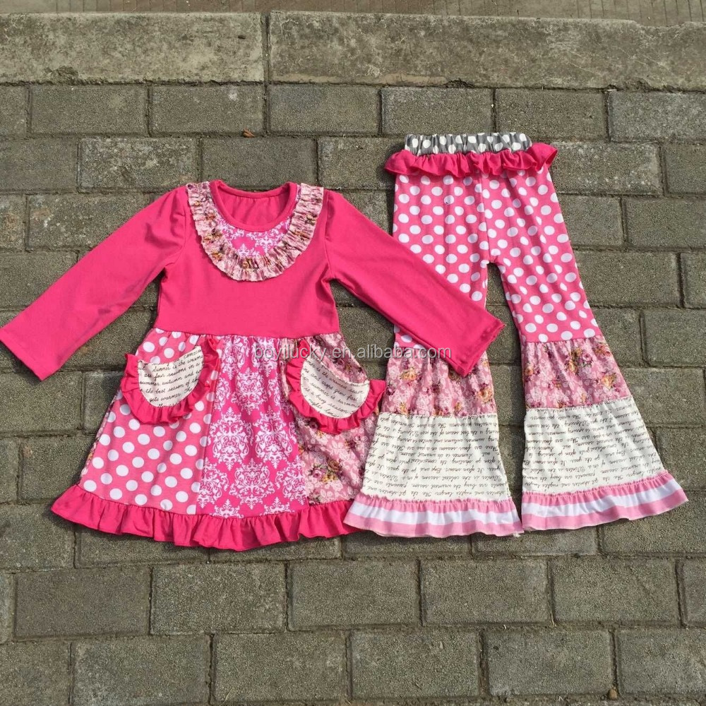 2017 Spring Girls Ruffle Shorts And Tunic Boutique Clothing Love 2pcs Pink Little Girls Valentine Outfit Clothes