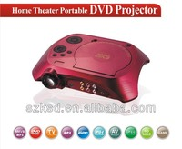 home used overhead portable led projector with dvd,tv,usb,sd,av in made in china