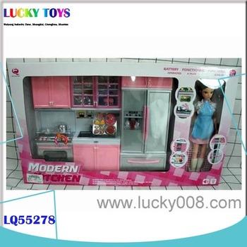 Produk Baru Perabot Dapur Plastik Dengan Boneka Pendidikan Diy Tablewares Permainan Mainan Untuk Anak