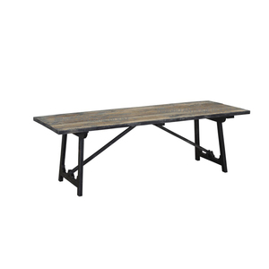 Good quality sell well Indian black rustic white pine wood dining table