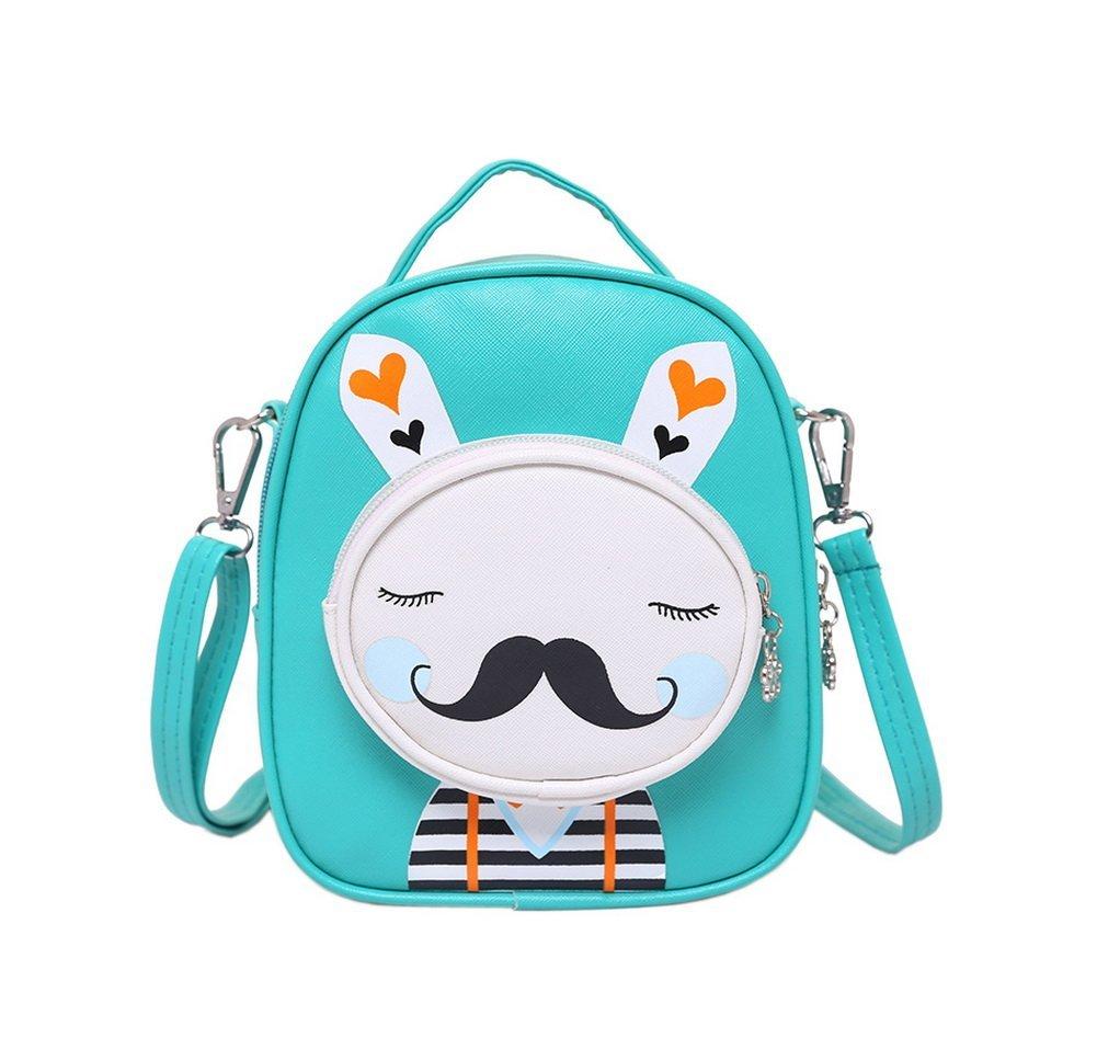 90f8905bb1 Kids Moustache Rabbit School Bag Cute Travel Shoulder Bag Backpack Purses  Green