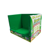 Retail snacks counter display cardboard hole small counter top candy display