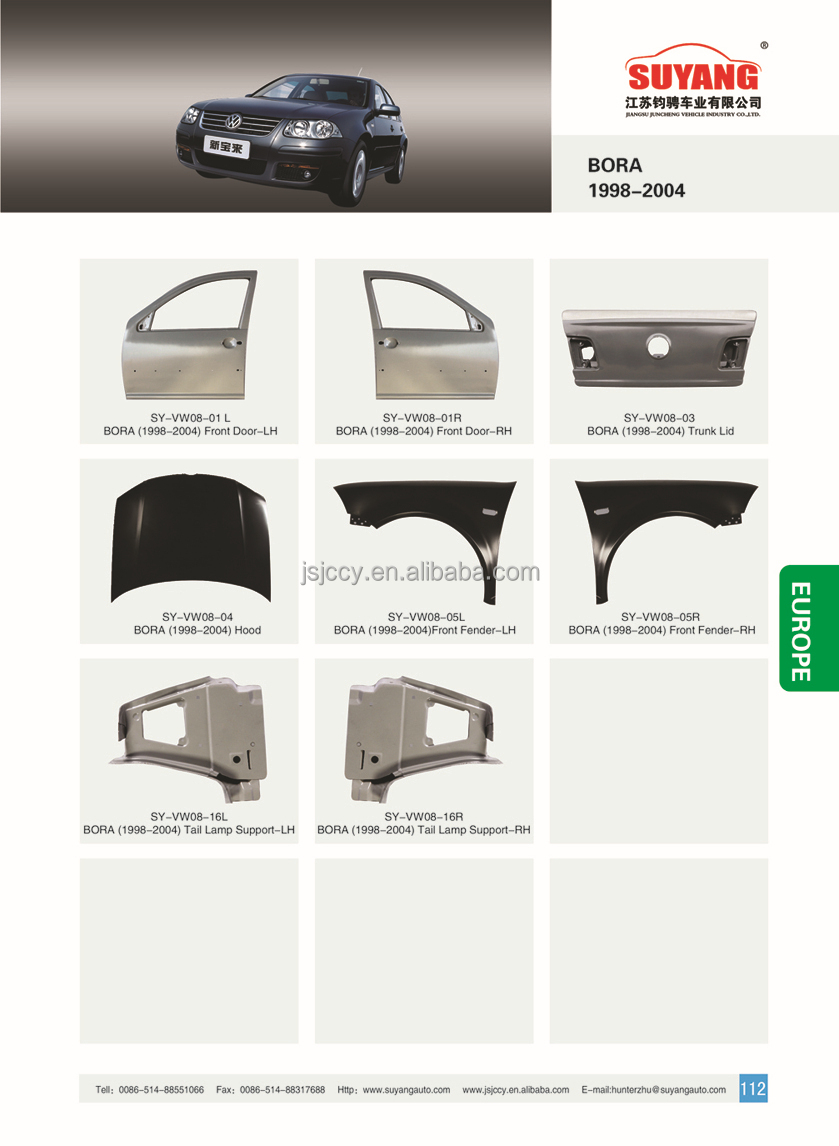 Vw Bora 2009 Car Tail Board Hot Selling Car Outer Metal Body Parts ...
