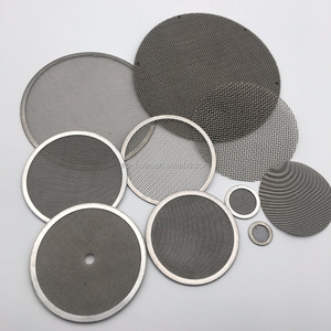 Single layer multi-layer Stainless steel micro metal mesh filter screen washable and reusable disc filter