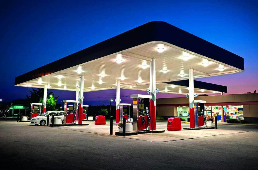 Chinese supplier prefabricated steel construction petrol station