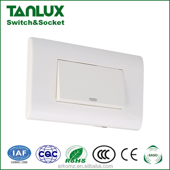 120mm Size 1 Gang 4 Way Wall Electrical Light Control Push Switch ...