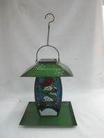 solar christmas lantern with bird feeder solar bird feeder with LED light solar hanging LED lantern SO6429A