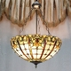 incandescent light fixture pendent lamp with tiffany style by handmade