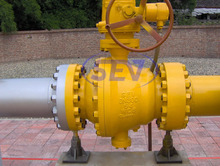 Natural Gas Pipeline Cast Steel Ball Valve API6D Side Entry