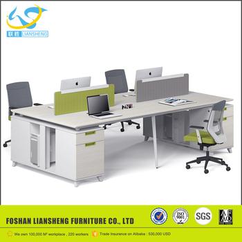 Office Interior Aluminium Panel Office Desk Wood Partition