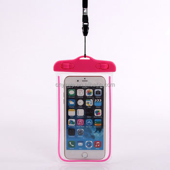 Factory Price Waterproof Cell Phone Pouch Universal Beach Bag Pvc Swimming Clear Mobile