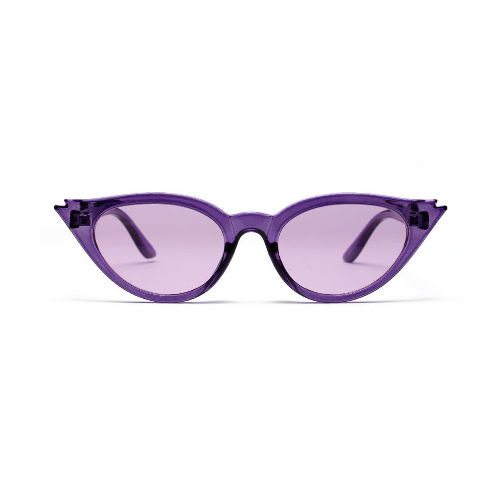 2018 Factory custom made purple frame triangle sunglasses for woman