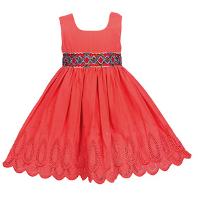 Comfortable new design baby frock designs dress in red color