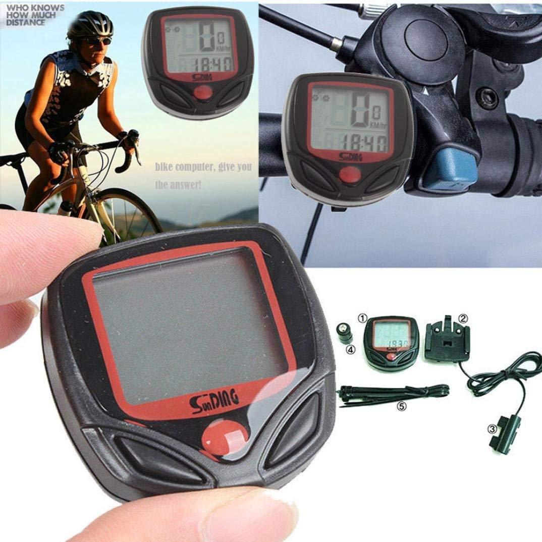 Binmer(TM)Waterproof Bicycle Bike Cycle LCD Display Digital Computer Speedometer Odometer