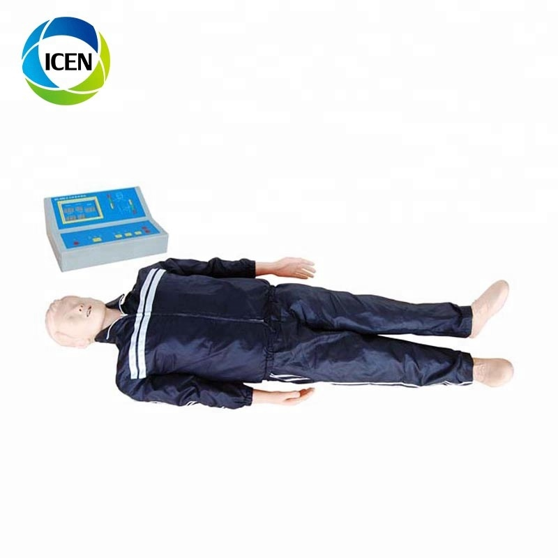 IN-402 Medical teaching Basic Life Support, BLS Manikin with CPR and AED Simulator