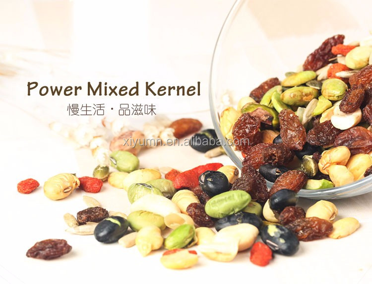 organic dried mixed nuts /assorted nut kernels