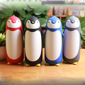2018 new 3D cartoon penguin stainless steel vacuum flask kids thermos