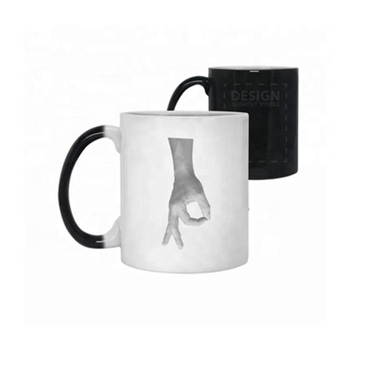 Funny Middle Finger Color Change Mug Unique Style Coffee Mugs Coffee Thermal Mug