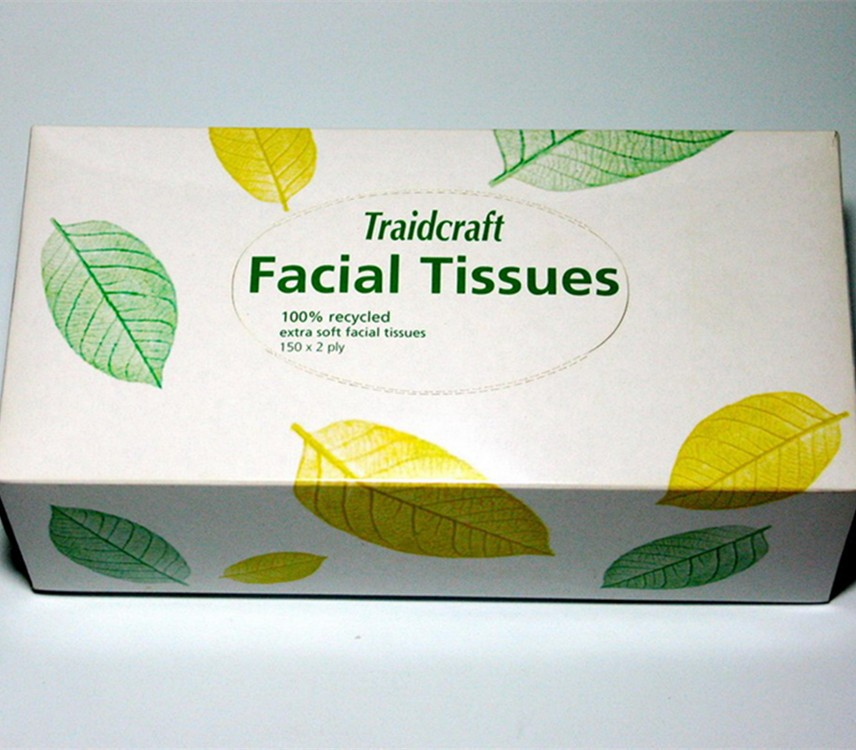 Customized Box Facial Tissue Paper for advertising