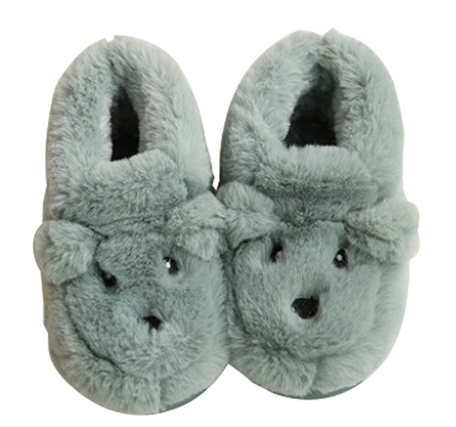 Cattior Cartoon Fleece Warm Cute House Shoes Kids Slippers Toddler Little Kid