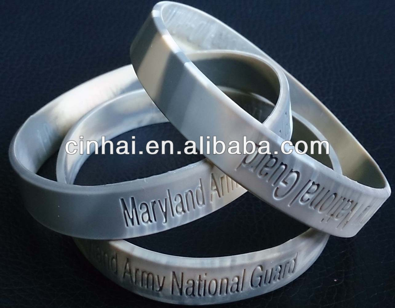 the cheapest eco-friendly Mixed-color Silica Gel Wristband