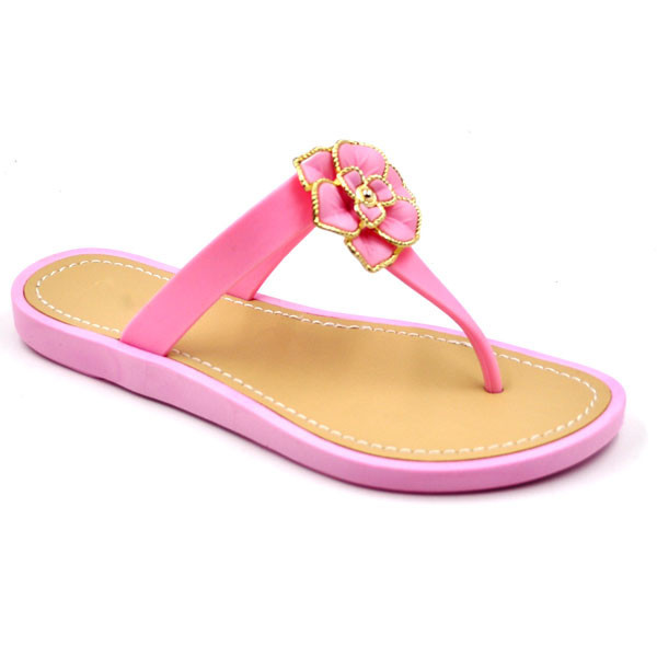 RMC soft multi color sole Rose adorn women chappals