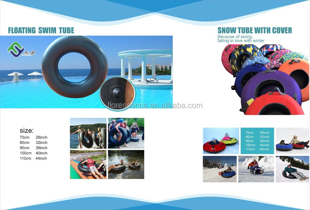 Durable Hard Bottom Inflatable Circle Snow Sled Tubes For Adult