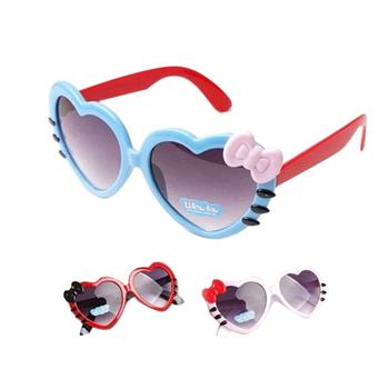 JLB10 Ikatan Simpul Gaya Modis Kacamata Hitam Luar Ruangan Cinta Berbentuk  Hati Lucu Bayi Perempuan Anak b0b9880cb3