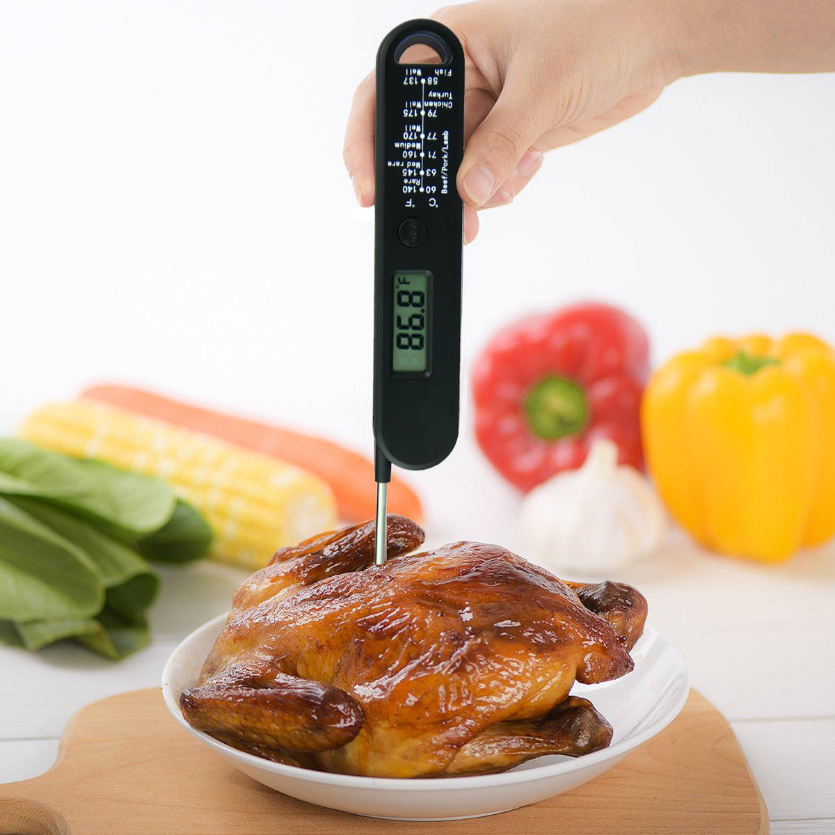 Digital Kitchen Food meat Thermometer With Probe with magnet
