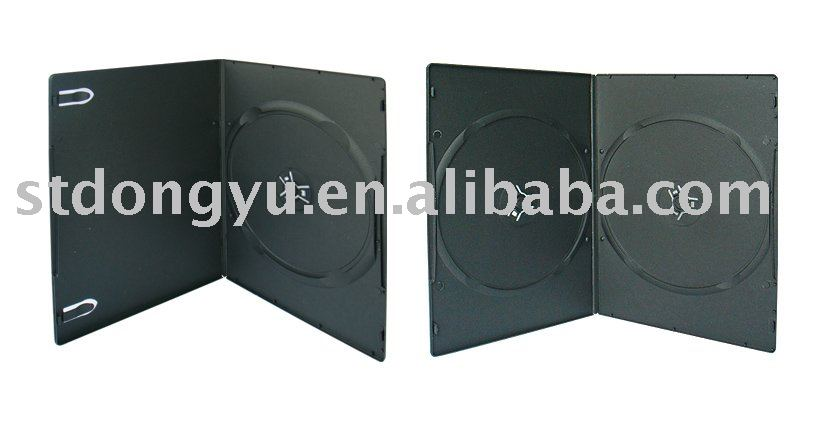 5mm Single and Double Black DVD Case