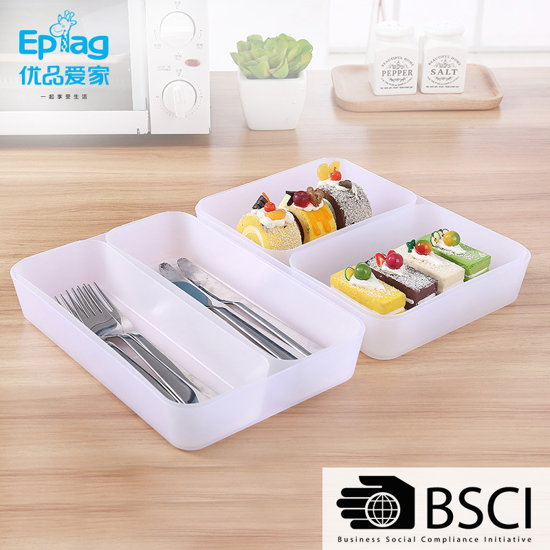 Top 10 save 5% free sample ecofriendly Shunfu 3051 18*13*4.5 plastic Kitchen Storage Tray/ cupboard drawer dividers