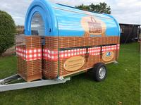Mobile Food Vendor Trailer Cart Van, Coffee Food Beverage Bar Sales Counter Desk Kiosk