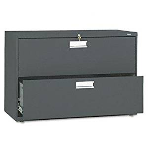 """Hon - 600 Series Two-Drawer Lateral File 42W X 19-1/4D Charcoal """"Product Category: Office Furniture/File & Storage Cabinets"""""""