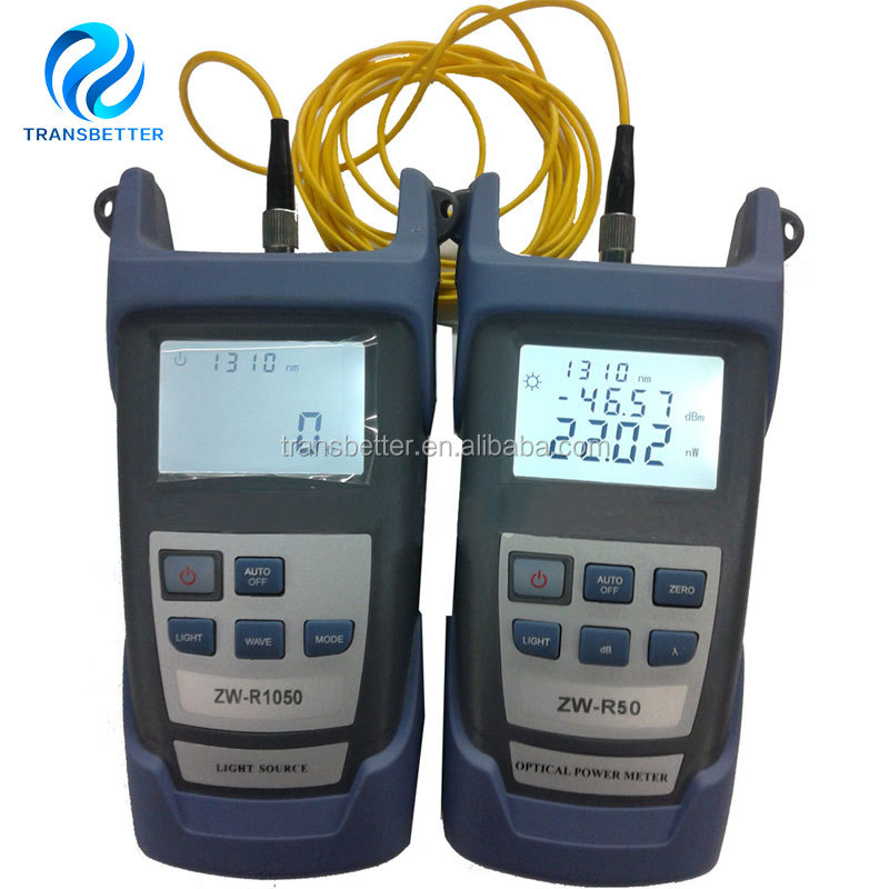 Fiber Optical Multimeter -50~+26dBm Handheld Fiber Optical Power Meter + Fiber Optical Light <strong>Source</strong> 1310/1550nm