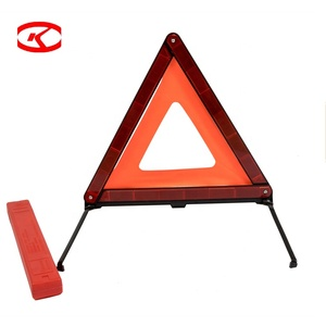 Red Durable Plastic Security Traffic And Car Failure Warning Triangle Emergency Reflective Safety Sign