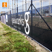 Outdoor events temporary mesh fence banner