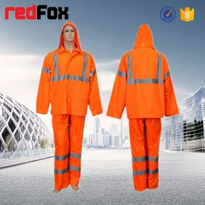 reflective safety clear pvc motorcycle rain coat