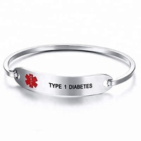 Wholesale Design Customized Engraved Logo Stainless Steel Medical Alert Bracelet