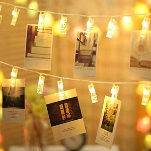 Custom 10L Wedding Party Christmas Home Decor String Lights for Hanging Photos Cards and Artwork