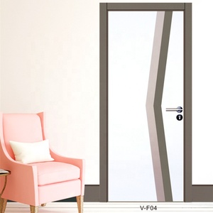 Office doors Japanese soundproof hotel bedroom Interior glass designs wooden door