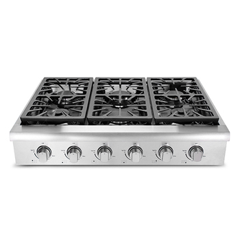 Cast Iron 6 Burner Table Top Gas Stove