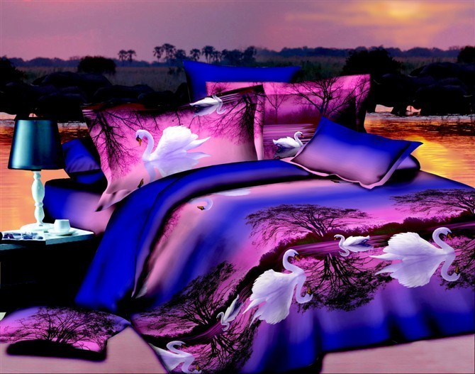 90GSM 3D bed sheet/printed 3d duvet cover set/3 d bedding set FastShipping