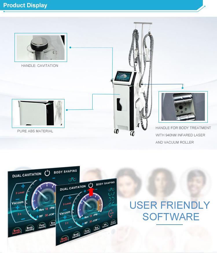 Professional cavitation RF Liposuction slimming machine/Velashape/Cavitation/Vacuum/Roller with CE