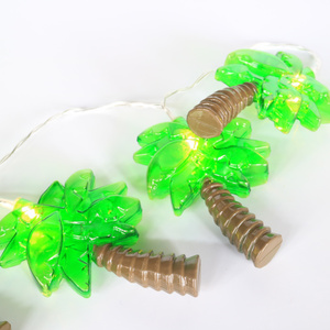 EVERMORE Outdoor Battery Operated Coconut LED Palm Tree String Lights