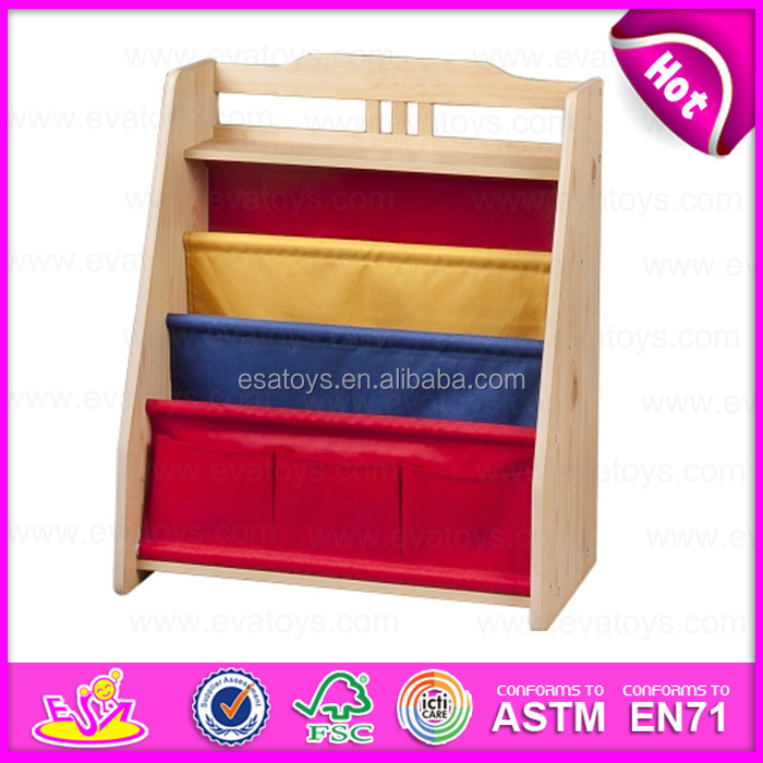 2015 Colorful Kids Wooden Bookshelf For Kid Portable Children Book Shelf