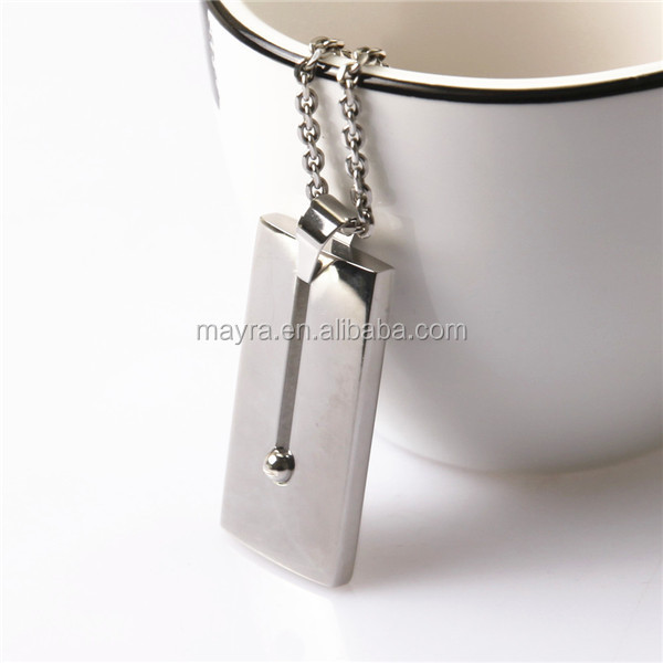 custom stainless steel jewelry polishing pendant