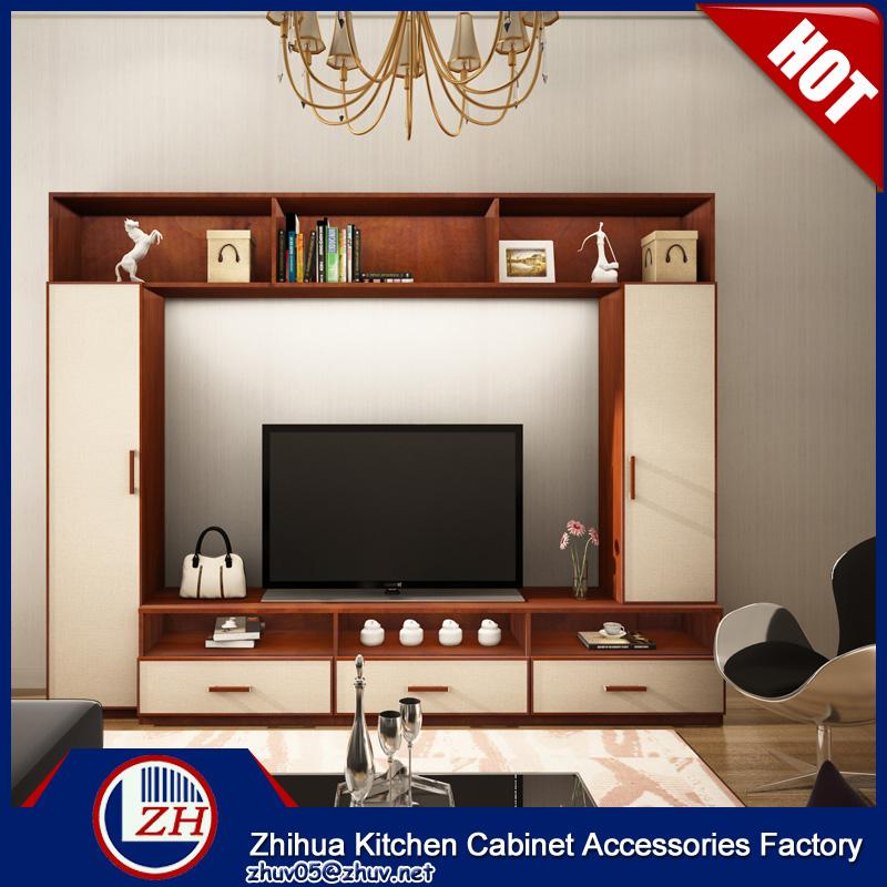 Ruang Tamu Yang Modern Kabinet Tv Lcd Lemari Kayu Desain