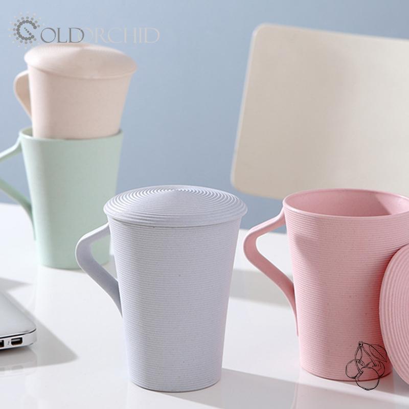 Custom Best Quality 400ml bamboo fiber coffee mugs irregular beer mug cup
