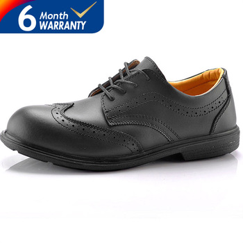 Black Executive Safety Shoes Breathable And Comfortable Men Work