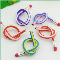 2019 New Colorful Magic Bendy Flexible Soft Pencil With Eraser toppers Kids Writing Gift cheap wholesale pencils